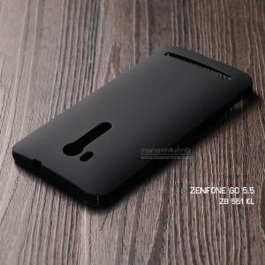 """เคส Zenfone GO TV 5.5"""" (ZB551KL) เคสแข็งสีเรียบ คลุมขอบ 4 ด้าน สีดำ"""