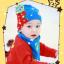 AP106••เซตหมวก+ผ้ากันเปื้อน•• / [สีฟ้า] น้องหมี thumbnail 4