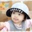 HT460••หมวกเด็ก•• / หมวกปีกกว้าง-bubbles (สีเทา) thumbnail 2