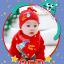 AP139••เซตหมวก+ผ้ากันเปื้อน•• / [สีแดง] Catch the Star thumbnail 1