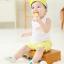 SK018••ถุงเท้าเด็ก•• ลูกแพร์ (สีเขียว-ข้อสั้น) thumbnail 3