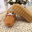 รองเท้าคัทชูเด็กหนัง PU สีน้ำตาล ประดับโลหะและริบบิ้นฝรั่งเศส Size 21-30 thumbnail 5
