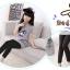 กางเกงเลคกิ้งเด็กหญิง สีดำ ผ้าเบา ใส่สบาย (มีขนาดเด็กสูง 90-130 ซม.) thumbnail 2
