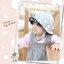 HT460••หมวกเด็ก•• / หมวกปีกกว้าง-bubbles (สีเทา) thumbnail 3