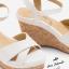 รองเท้าแตะส้นสูง Patent Textured Cork-Heel รุ่น KR0524 thumbnail 4
