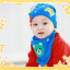 AP106••เซตหมวก+ผ้ากันเปื้อน•• / [สีฟ้า] น้องหมี thumbnail 3