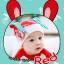 HT187••หมวกเด็ก•• / [สีแดง] Minito thumbnail 1