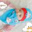 AP185••เซตหมวก+ผ้ากันเปื้อน•• / เมฆ [สีฟ้า] thumbnail 3