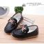 รองเท้าคัทชูเด็กเล็ก หนัง PU สีดำ ประดับโลหะ H และริบบิ้นหรู Size 21-30 thumbnail 2