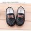 รองเท้าคัทชูเด็กเล็ก หนัง PU สีดำ ประดับโลหะ H และริบบิ้นหรู Size 21-30 thumbnail 3