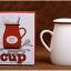 แก้วเซรามิคทรงถังนมสีขาวสไตล์วินเทจ < พร้อมส่ง > thumbnail 7
