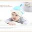 HT404••หมวกเด็ก•• / หมวกบีนนี่-หมีมงกุฎ (สีฟ้า) thumbnail 3