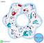 ผ้าซับน้ำลายเด็ก ผ้ากันเปื้อนเด็กเล็ก แบบ 360 องศา ปลายหยักโค้ง - ยี่ห้อ Mom's care / ลาย Blue Puppy thumbnail 1