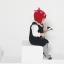 HT513••หมวกเด็ก•• / หมวกไหมพรม-ปีศาจหูตั้ง (สีแดง) thumbnail 4