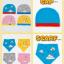 AP185••เซตหมวก+ผ้ากันเปื้อน•• / เมฆ [สีฟ้า] thumbnail 6