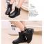 รองเท้าบู๊ทสั้นเด็กหญิง สีดำ มีซิปข้าง Size 27-37 thumbnail 4