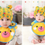 AP153••เซตหมวก+ผ้ากันเปื้อน•• / [สีเหลือง] น้องหมี thumbnail 2