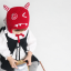 HT513••หมวกเด็ก•• / หมวกไหมพรม-ปีศาจหูตั้ง (สีแดง) thumbnail 3
