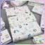 ผ้าอ้อมสาลู cotton 100% เกรด A ขอบเย็บ size 24x24 นิ้ว (แพ็คยกโหล 12 ผืน) thumbnail 2