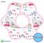 ผ้าซับน้ำลายเด็ก ผ้ากันเปื้อนเด็กเล็ก แบบ 360 องศา ปลายหยักโค้ง - ยี่ห้อ Mom's care / ลาย Pink Castle thumbnail 1