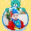 AP106••เซตหมวก+ผ้ากันเปื้อน•• / [สีฟ้า] น้องหมี thumbnail 1