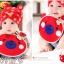 AP152••เซตหมวก+ผ้ากันเปื้อน•• / [สีแดง] น้องหมี thumbnail 2