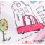 ผ้าซับน้ำลายเด็ก ผ้ากันเปื้อนเด็กเล็ก แบบ 360 องศา ปลายหยักโค้ง - ยี่ห้อ Mom's care / ลาย Blue Puppy thumbnail 3