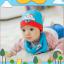 AP185••เซตหมวก+ผ้ากันเปื้อน•• / เมฆ [สีฟ้า] thumbnail 1