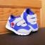 รองเท้าคัชชูเด็กเล็ก สีฟ้าเทาดาวแดง Sport ผ้าตาข่ายฟองน้ำนิ่ม (เท้ายาว 10-12.5 ซม.) thumbnail 1