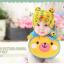 AP153••เซตหมวก+ผ้ากันเปื้อน•• / [สีเหลือง] น้องหมี thumbnail 1