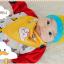 AP184••เซตหมวก+ผ้ากันเปื้อน•• / เมฆ [สีเหลือง] thumbnail 3