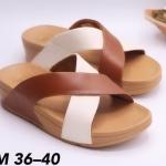 รองเท้าแตะแฟชั่น แบบสวม หน้าไขว้สวยเก๋ พื้นซอฟคอมฟอตนิ่มสไตล์ฟิตฟลอบ ใส่สบาย แมทสวยได้ทุกชุด