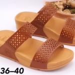 รองเท้าแตะแฟชั่น แบบสวม คาด 2 ตอน หนังฉลุลายสวยเก๋ พื้นซอฟคอมฟอตนิ่มสไตล์ฟิตฟลอบ ใส่สบาย แมทสวยได้ทุกชุด