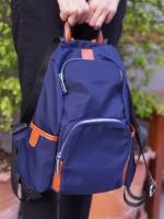 Back pack(กระเป๋าเป้ แฟชั่น สะพายหลัง) BA085 สีน้ำเงิน พร้อมส่ง