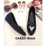 รองเท้าคัทชู ส้นเตารีด แต่งอะไหล่สวยหรู หนังนิ่ม ส้นสูงประมาณ 2 นิ้ว ใส่สบาย แมทสวยได้ทุกชุด (CA9221)