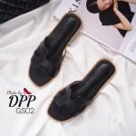 รองเท้าแตะแฟชั่น แบบสวม หน้า H สไตล์แอร์เมส สวยเรียบเก๋อินเทรนด์ ใส่สบาย แมทสวยได้ทุกชุด (GS02)