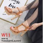 รองเท้าแฟชั่น ส้นสูง รัดส้น แบบสวม หนังสานสไตล์อีฟแซง ส้นลายไม้สวยเก๋ ทรงสวย หนังนิ่ม ส้นสูงประมาณ 5 นิ้ว ้เสริมหน้า ใส่สบาย แมทสวยได้ทุกชุด (3006-35)