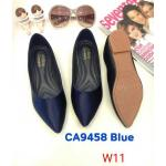 รองเท้าคัทชู ส้นแบน ทรงหัวแหลม สวยเรียบเก๋ หนังนิ่ม พื้นนิ่ม ใส่สบาย แมทสวยได้ทุกชุด (CA9458)