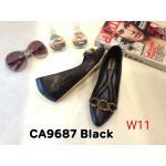 รองเท้าคัทชู ส้นเตารีด แต่งอะไหล่ด้านหน้าสวยหรู ทรงสวย หนังนิ่ม ใส่สบาย ส้นสูงประมาณ 2 นิ้ว แมทสวยได้ทุกชุด (CA9687)