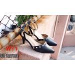 รองเท้าคัทชู ส้นเตี้ย รัดข้อ แต่งหมุดสวยหรูสไตล์วาเลนติโน ทรงสวย หนังนิ่ม ใส่สบาย ส้นสูงประมาณ 2 นิ้ว แมทสวยได้ทุกชุด (OX01)