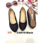 รองเท้าคัทชู ส้นแบน ฉลุลายสวยน่ารัก หนังนิ่ม พื้นนิ่ม ใส่สบาย แมทสวยได้ทุกชุด (CA9119)