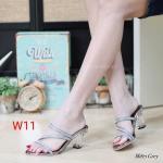 รองเท้าแฟชั่น ส้นสูง แบบสวม แต่งกลิสเตอร์สวยเป็นประกาย ส้นใสสวยหรู ทรงสวย หนังนิ่ม ส้นสูงประมาณ 3 นิ้ว ใส่สบาย แมทสวยได้ทุกชุด (M1871)