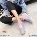 รองเท้าผ้าใบแฟชั่น สไตล์เกาหลี น้ำหนักเบา พื้นนิ่ม เชือกด้านหน้าปรับกระชับเท้าวัสดุอย่างดี ทรงสวย ใส่สบาย ใส่เที่ยว ออกกำลังกาย แมทสวยเท่ห์ได้ทุกชุด (XB5506)