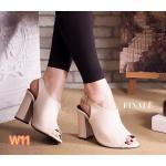 รองเท้าแฟชั่น ส้นสูง รัดส้น ทรงหุ้มหน้าเท้าเก็บเท้าเรียว สวยเรียบเก๋ หนังนิ่ม ใส่สบาย ส้นตัดสูงประมาณ 3.5 นิ้ว แมทสวยได้ทุกชุด