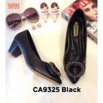 รองเท้าคัทชู ส้นเตี้ย แต่งอะไหล่สวยหรู หนังนิ่ม ส้นสูงประมาณ 2 นิ้ว ใส่สบาย แมทสวยได้ทุกชุด (CA9325)