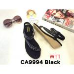 รองเท้าแฟชั่น ส้นเตารีด รัดส้น แบบสวมนิ้วโป้ง สายคาดเฉียง แต่งคลิสตัลสวยหรู หนังนิ่ม พื้นนิ่ม ทรงสวย รัดส้นยางยืดนิ่ม ใส่สบาย แมทสวยได้ทุกชุด (CA9994)