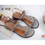 รองเท้าแตะแฟชั่น แบบสวม รัดส้น แต่งโซ่สวยเก๋สไตล์แบรนด์ หนังนิ่ม ใส่สบาย แมทสวยได้ทุกชุด (G4112)