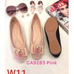 รองเท้าคัทชู ส้นแบน แต่งอะไหล่สวยหรู ทรงสวย หนังนิ่ม ใส่สบาย แมทสวยได้ทุกชุด (CA9283)