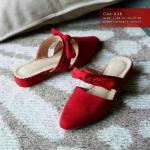 รองเท้าคัทชู เปิดส้น ดีไซน์ด้านบนด้วยโบว์น่ารัก งานใช้สบายๆ โทนสีใส่ง่าย แถมส้นไม่สูงมาก สูง 1.5 cm หนังนิ่ม ใส่สบาย แมทสวยได้ทุกชุด (C66-038)