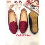 รองเท้าคัทชู ส้นแบน แต่งฉลุลายหัวใจสวยน่ารัก ทรงสวย หนังนิ่ม ใส่สบาย แมทสวยได้ทุกชุด (CA9213)